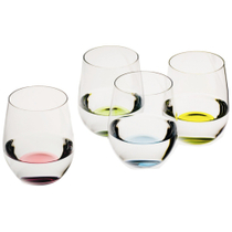 Riedel O Happy Stemless Wine Glass Tumbler, Set of 4