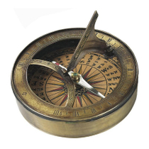 Authentic Models 18th Century Bronze Finish Sundial & Compass