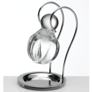 Crystal Wine Decanting Ball with Stainless Steel Stand