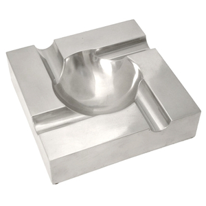 Aluminum 4 Channel Square Cigar Ashtray