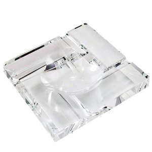 Crystal Clear Square Cigarette Ashtray