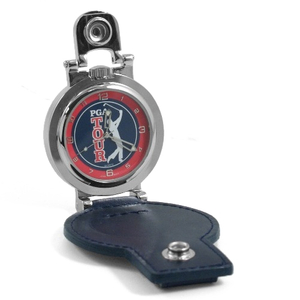 Colibri of London Silver Leather PGA Tour Pocket Watch