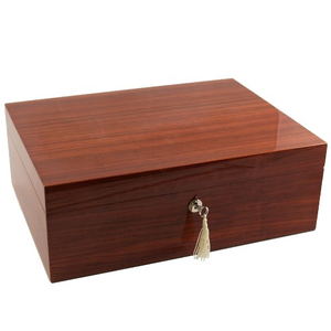 Dolce Sogni High Gloss Zebra Wood Humidor 100 Count with Tray