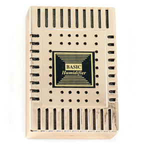 Gold Rectangle Humidifier for Cigar Humidors