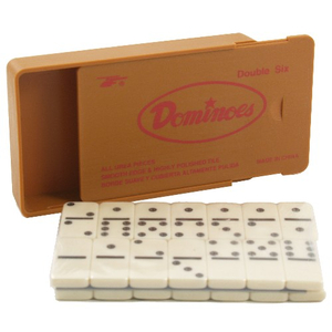 Double Six Travel Dominoes Set with Case