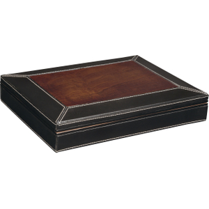 Savoy by Ashton Small Leather and Burl Wood Travel Humidor, 12 Cigar Capacity