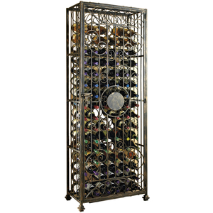 Wine Enthusiast Antiqued Steel Wine Jail, 96 Bottle