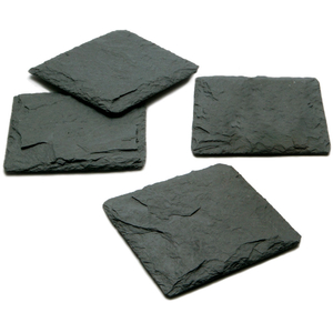 JK Adams Charcoal Slate Coaster, Set of 4