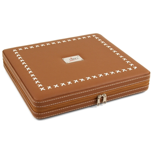 Nibo Brown Leather 20 Count Travel Cigar Humidor