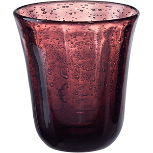 Artland Savannah Purple Bubble Double Old Fashion Glass, 10 Ounce
