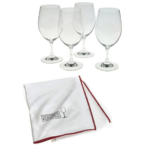 Riedel Ouverture Magnum Set of 8 Wine Glasses with Free Polishing Cloth