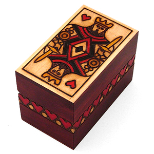 King of Hearts Wooden Storage Box