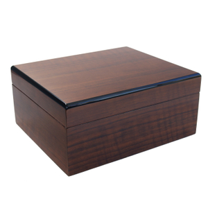 Savoy by Ashton Small Humidor in African Teak, 25 Cigar Capacity