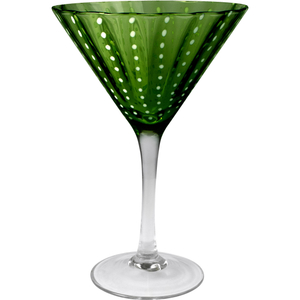 Artland Cambria Sage Martini Bar Glass, 8 Ounce