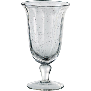 Artland Savannah Clear Bubble Glass Goblet, 14 Ounce