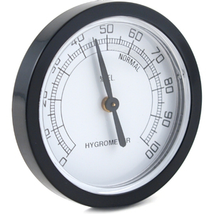 Kingstar Round Black Analog Hygrometer