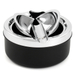 Chrome Round Single Cigar Ash Drop Ashtray with Stand