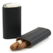 Andre Garcia Horn Collection Florence Black Leather 3 FingerCigar Case with Buffalo Horn Accent