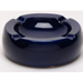 Oversized Hi-Gloss Blue Ceramic Round Cigar Ashtray