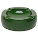 Oversized Hi-Gloss Green Ceramic Round Cigar Ashtray