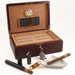 Italian Leather Humidor 8pc Gift Set