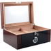 Berkeley II 100 Count 2-Tone Glass Top Cigar Humidor