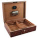 Dolce Sogni Burnt Orange Emboyna Wood Cigar Humidor 75 Count