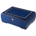 Blue Inlay Burl Cigar Humidor Contour 100ct