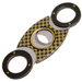 Gold Checkerboard Infiniti Double Bladed Cigar Cutter
