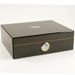 NIBO Carbon Fiber Cigar Humidor with Front Mount Hygrometer