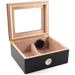 Bubinga Wood 50 Count Glass Top Cigar Humidor with Front Mount Hygrometer