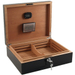 Dolce Sogni High Gloss Black Humidor 75 Count with Digital Hygrometer