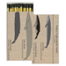 Homart Long Decorative Matches in Whale Chart Box