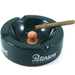Peterson Round Dark Green Ceramic Pipe Ashtray