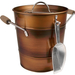 Artland Oasis Distressed Antiqued Copper Finish Ice Bucket and Scoop