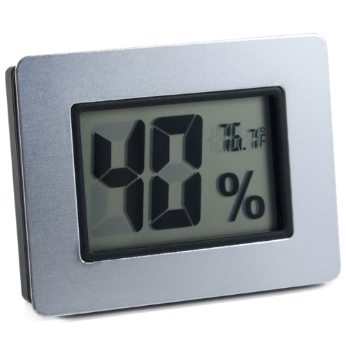 Digital Hygrometer and Thermometer with Silver Metal Frame