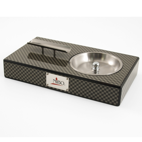 NIBO Carbon Fiber & Stainless Steel Cigar Ashtray
