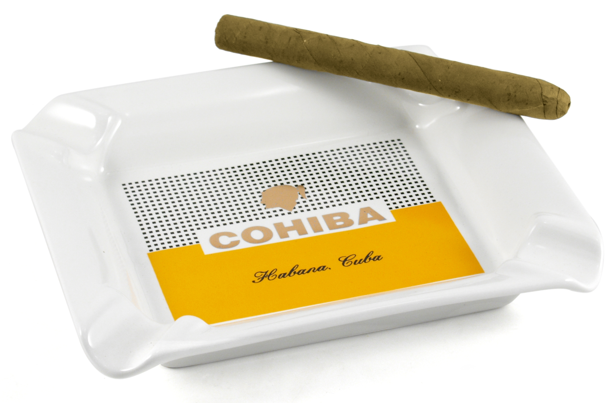 Cohiba 4 Cigar Ashtray Cuban Habana Cuba logo