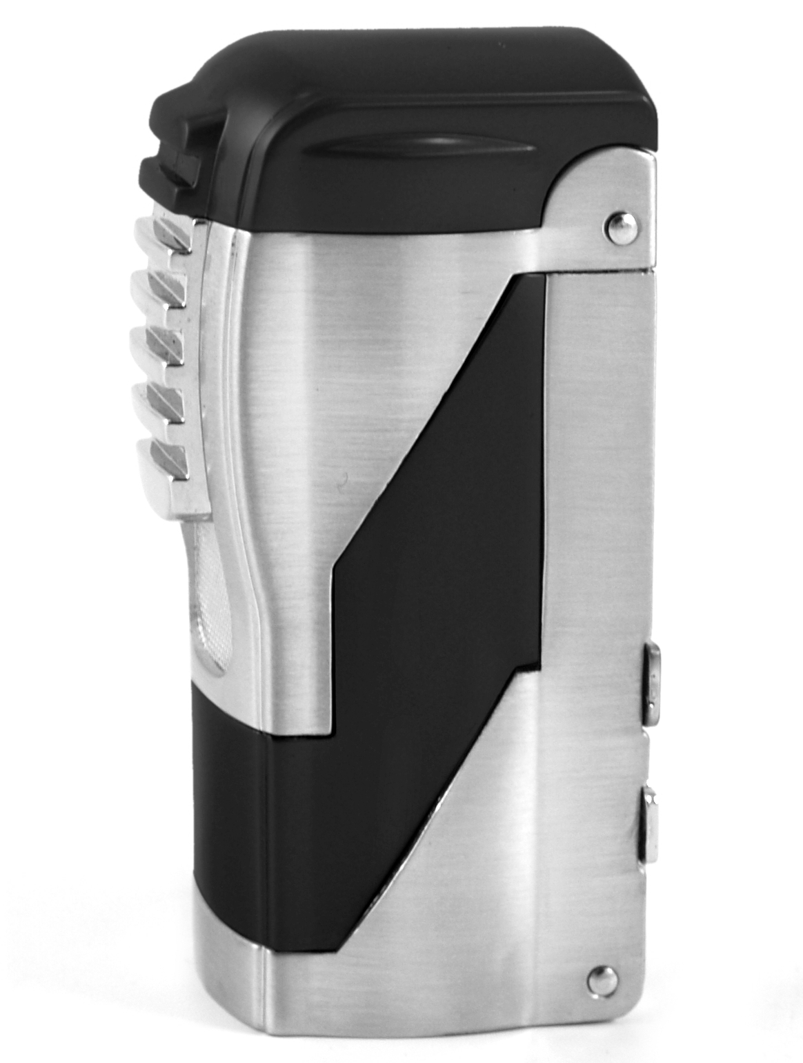 Black Double Torch Lighter with Cigar Punches