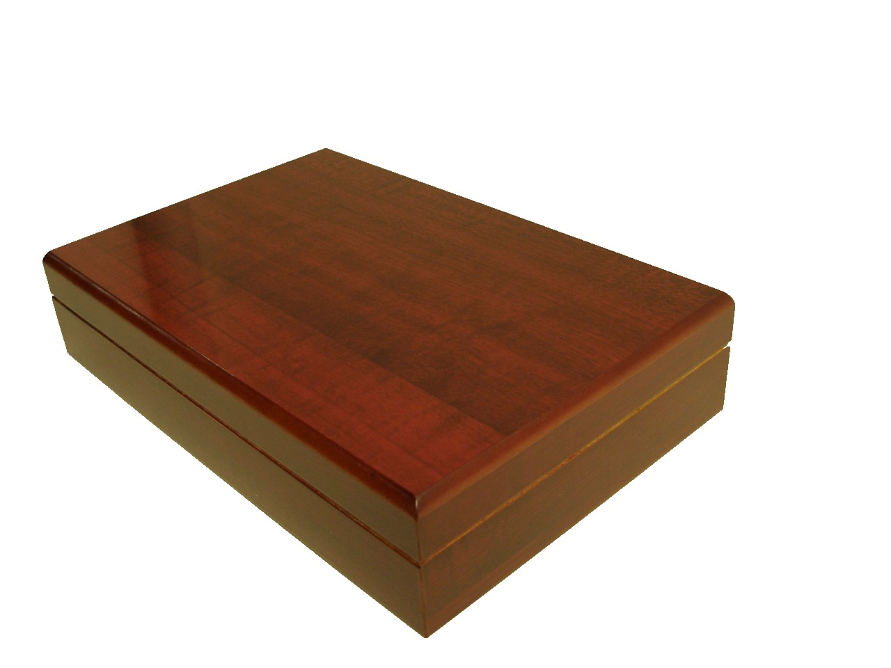 Cherry Long Portable Humidor for Travel or Desktop