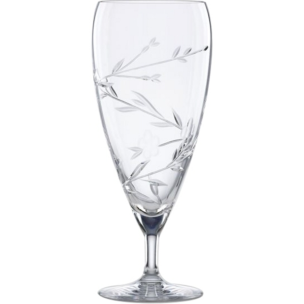 L by Lenox Crystal Floral Bouquet Iced Beverage Glass