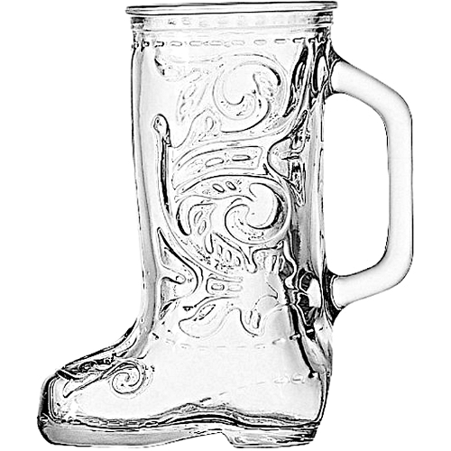 Anchor Hocking Glass Cowboy Boot Mug