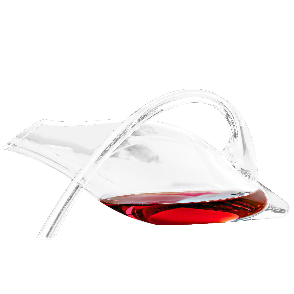 Wine Enthusiast Break-Resistant Crystal Fusion Duck Decanter, 42 Ounce