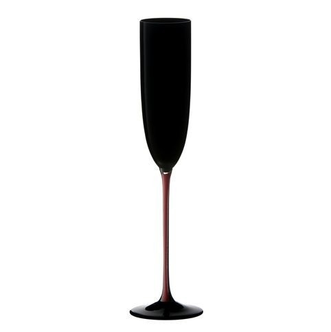 Riedel Sommeliers Black and Red Champagne Flute, 6.75 Ounce