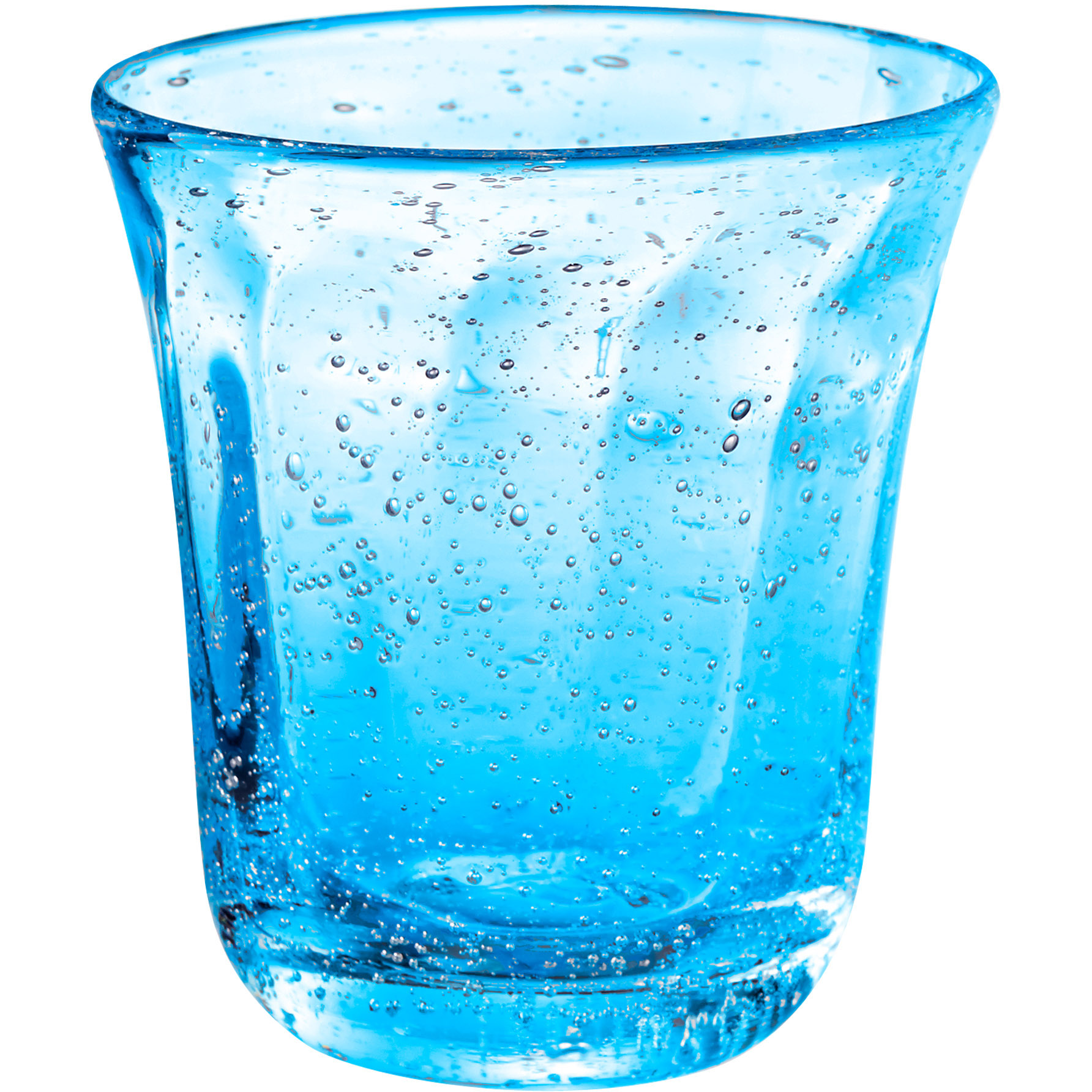 Artland Savannah Turquoise Bubble Double Old Fashion Glass, 10 Ounce