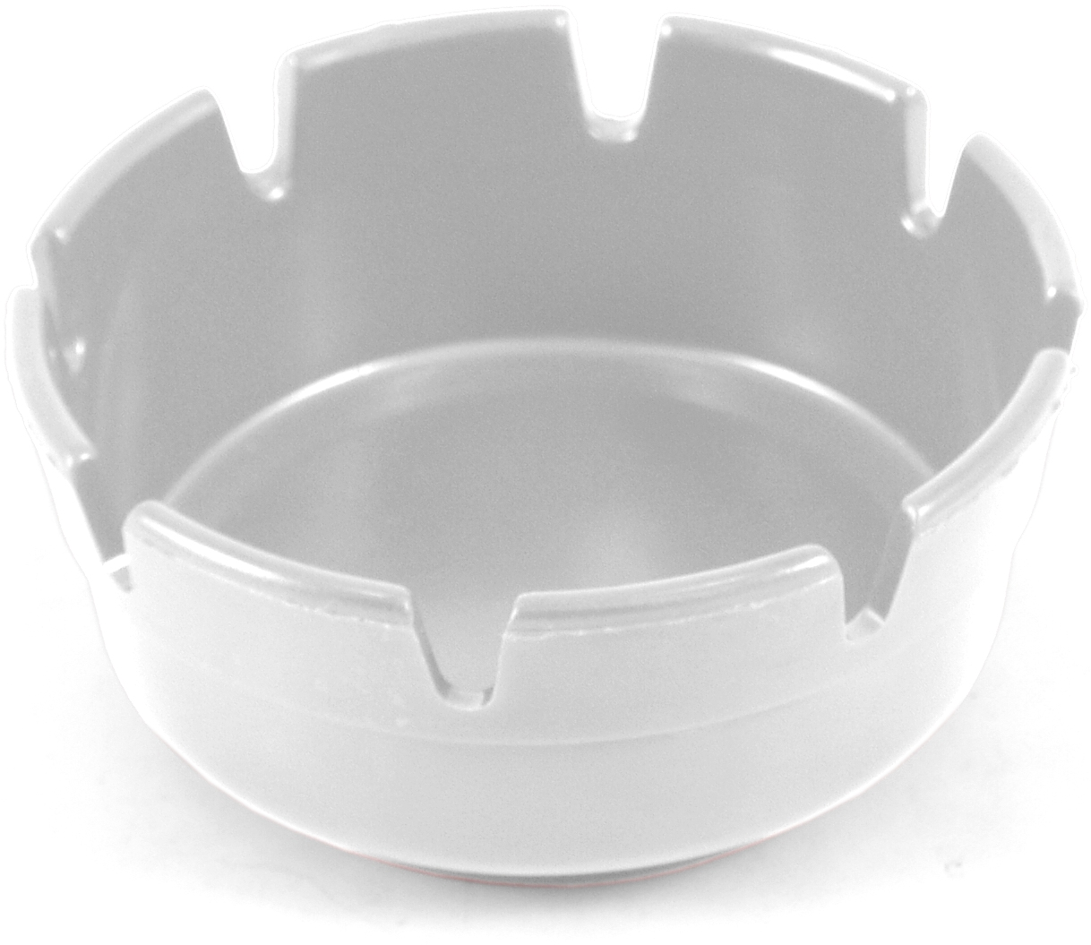 Ges White Plastic Cigarette Ashtray with 8 Notches, 4 Inch