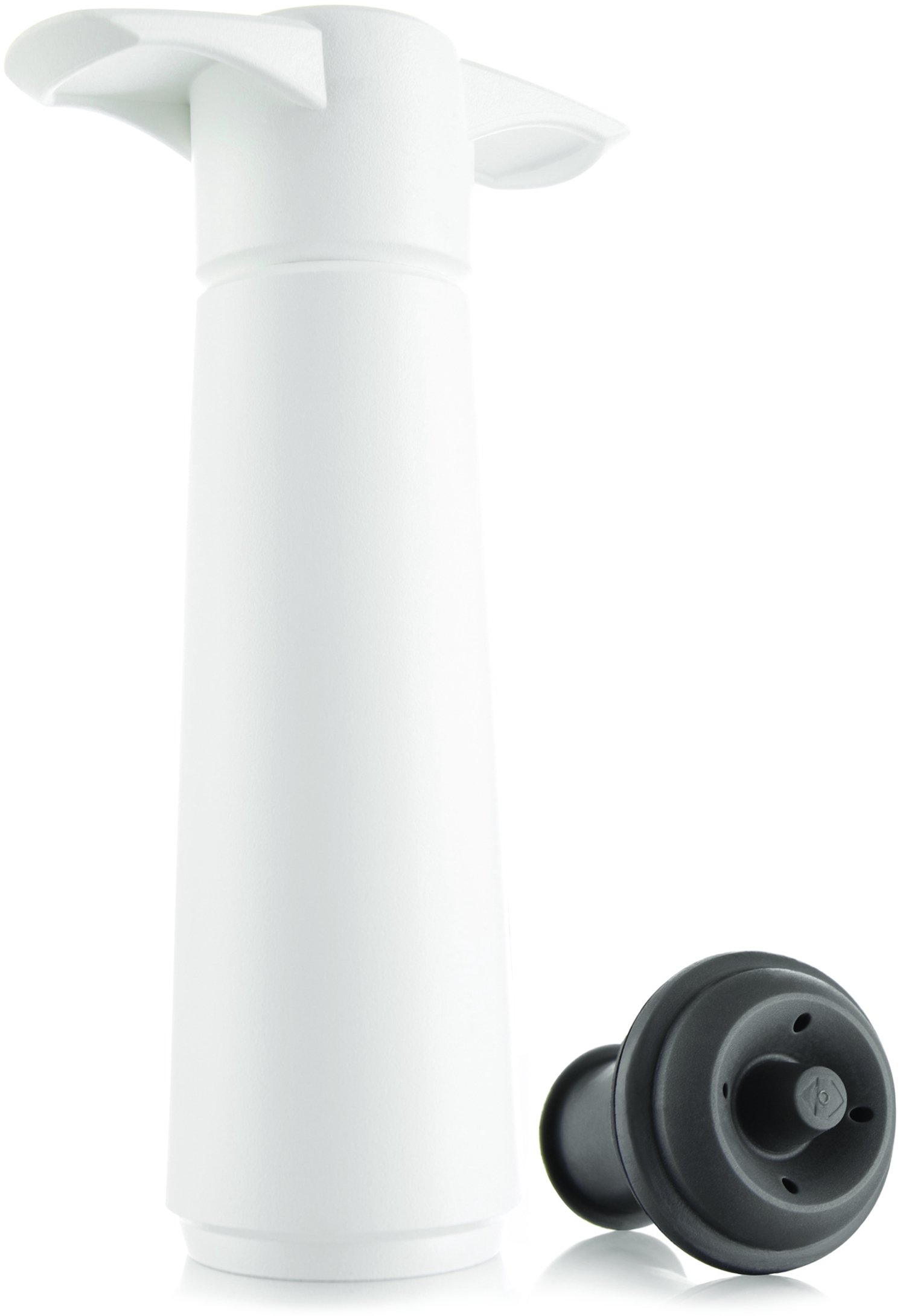 Vacu Vin White 3-Piece Wine Saver Pump and Stopper