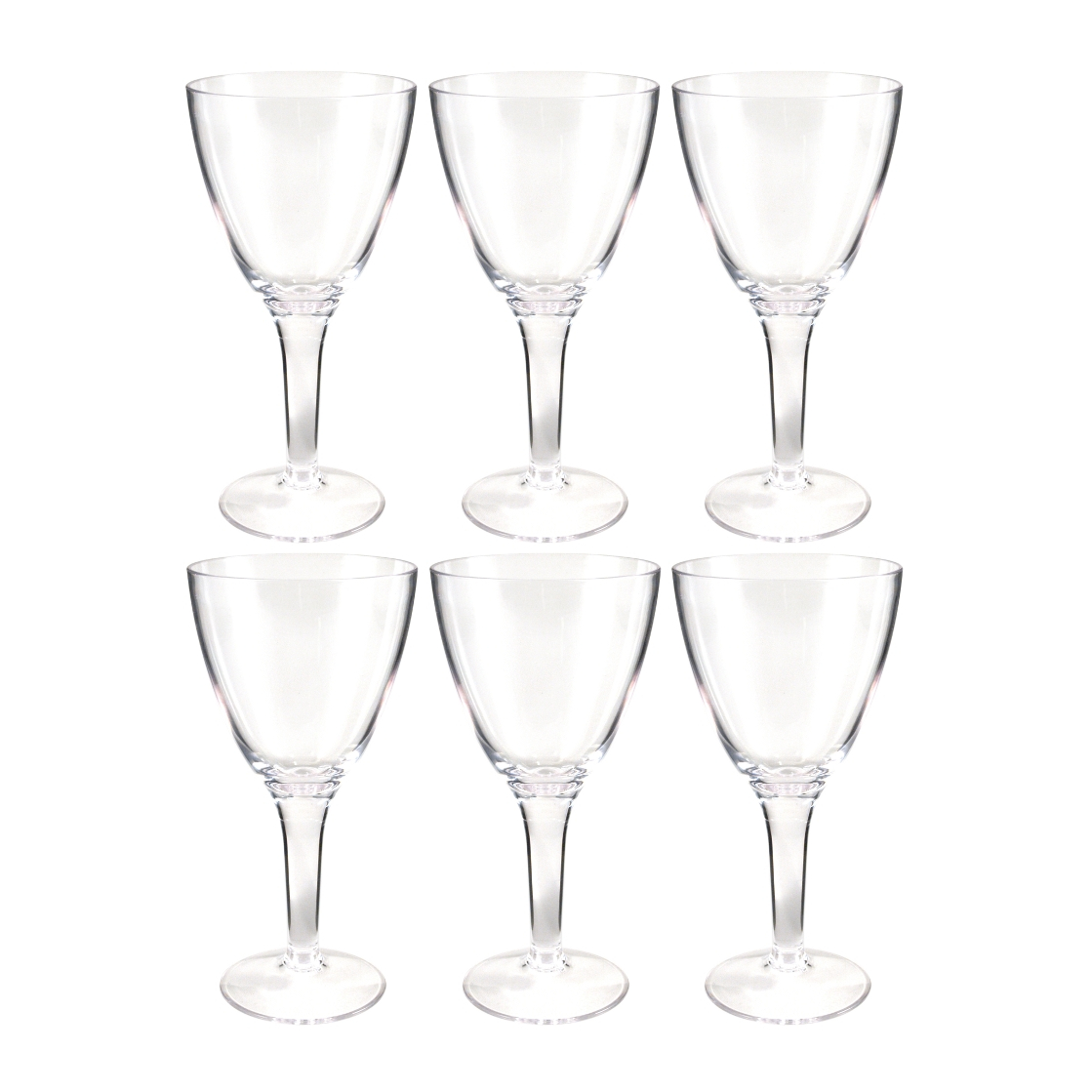 Prodyne Forever Clear Polycarbonate 14 Ounce All Purpose Stemmed Glass, Set of 6