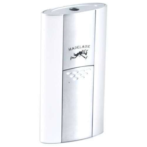 Madelaine Push Silver Single Torch Lighter