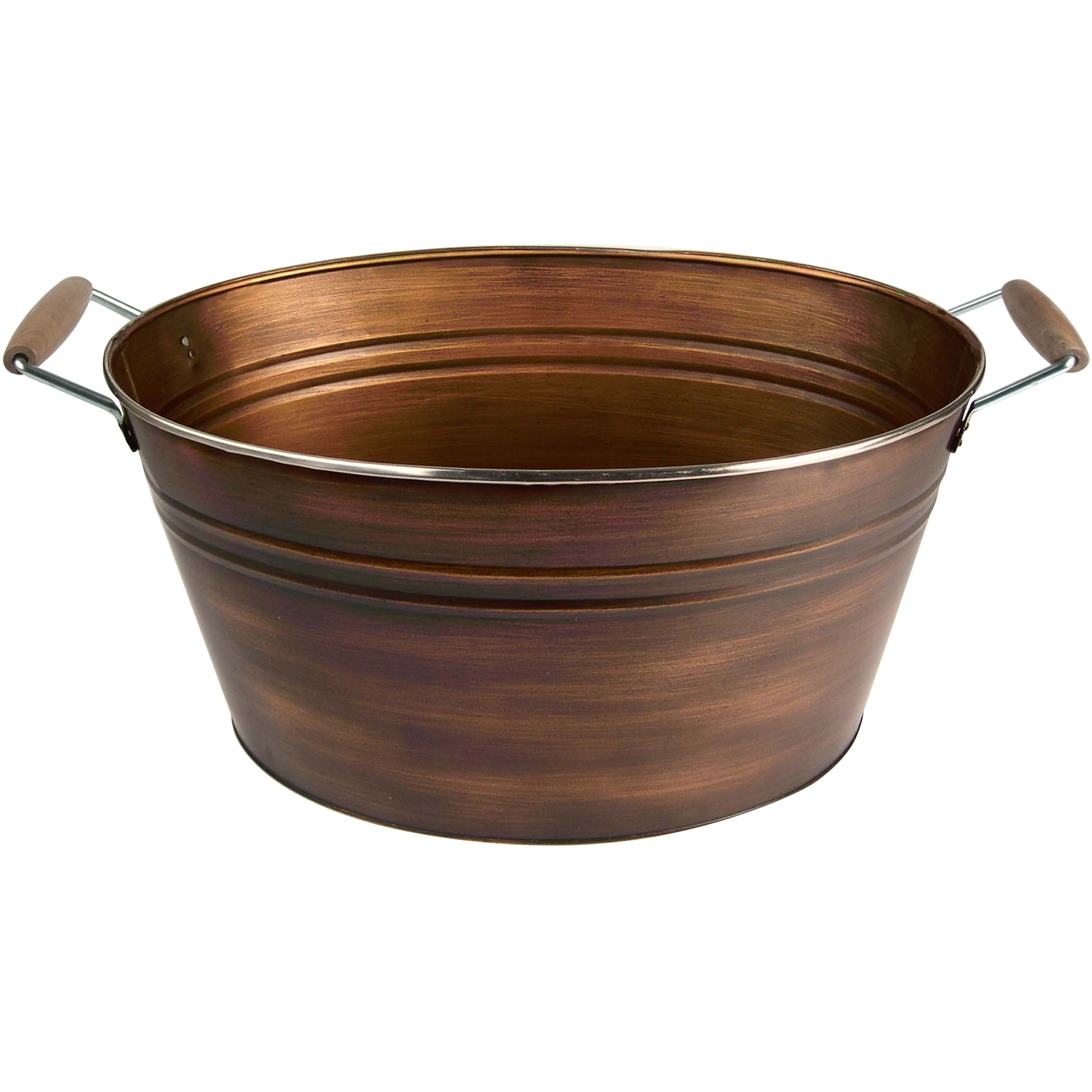 Artland Oasis Distressed Antiqued Copper Finish Oval Party Tub